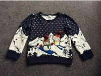 Boys Christmas jumper in a size 5-6 years in excellent condition.