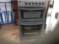 Indesit gas cooker,greyish black colour,good condition,£95.00