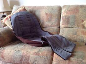 iCandy Peach 'Black Jack' (Brown) Foot Muff and Change Bag