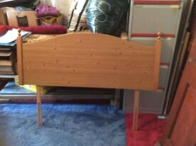 Double bed headboard pine as per photo