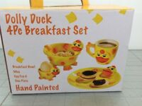 Dolly Duck 4 piece Breakfast Set, new and boxed