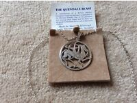 """""""QUENDALE BEAST"""" SILVER PENDANT - NEW"""