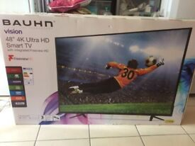"""Braun TV, as new, still in box, 48"""", ultra HD, Smart TV with integrated Freeview"""