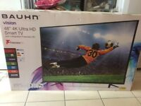 "Braun TV, as new, still in box, 48"", ultra HD, Smart TV with integrated Freeview"