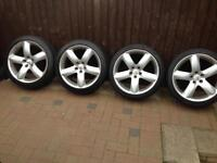 """PEUGEOT ALLOY WHEELS AND TYRES. 18"""""""