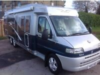 2001, 4 berth fiat ducato hobby tag axle with solar panel very hi spec motorhome