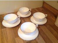 4 Wedgwood jasper conran cups and saucers