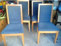 4 upholstered dining chairs very good condition
