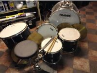 Cranes drum kit , cymbals, stool, sticks needs attention or ok for spares
