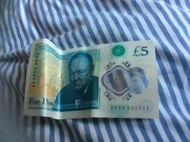 £5 pound note