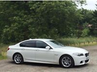FULL GENUINE 525D M-SPORT F10 BODYKIT IN ALPINE WHITE GENUINE BUMPERS WITH SIDE SKIRTS