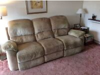 Three Seater Sofa with Recliners