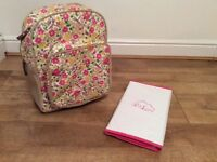 Pink Lining Cottage Garden Baby changing Rucksack Used twice!