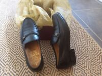 MENS GRENSON BOLOGNA BLACK SHOES SIZE 8E IN EXCELLENT CONDITION