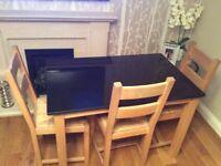 Black granite kitchen table