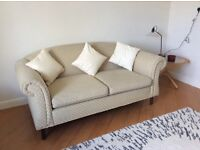Grey/Cream Sofa Settee - REDUCED from £195 to £125!!