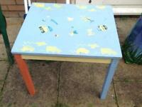 IKEA child's table and 2 chairs