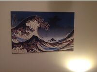 Wall canvas the great wave of kanagawa