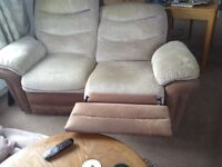 2 seater reclining settee
