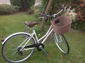 Dawes cream ladies bicycle with basket