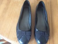M and S leather ballet flats size 6