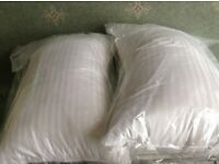 NEW Pair of Hungarian Goose Down Pillows NEW Free Postage
