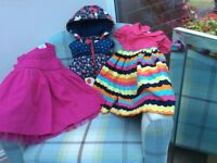 2 Pretty Summer Dress +Gilet/12-18months/ Next, F&F, Blue Zoo/ Great Condition.