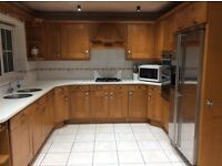 Kitchen units/corian worktop/fridge freezer hob oven dishwasher available for collection 7 Sept