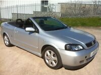 2003 Vauxhall Astra 1.8 bertone convertible 53 reg full black leather, 12 months mot