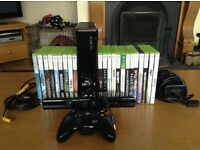 Xbox 360 with Kinect with games.