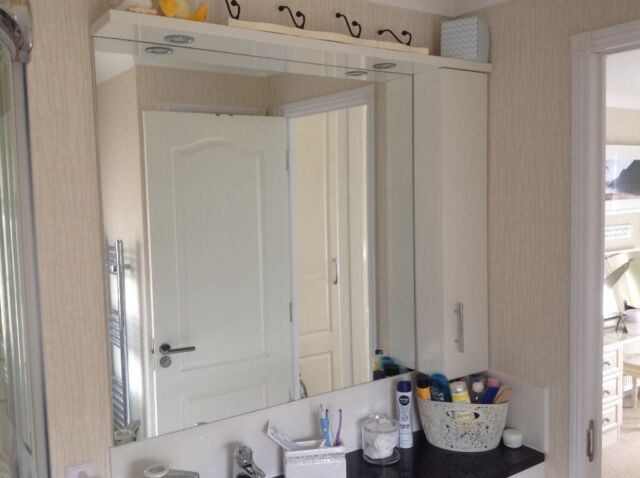 Super Illuminated Bathroom Mirror With Side Cabinet In Lincoln Lincolnshire Gumtree Download Free Architecture Designs Viewormadebymaigaardcom