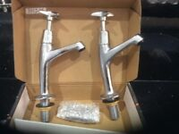 New bath and basin taps