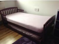 Purple Toddler Trundle bed with 2 mattresses
