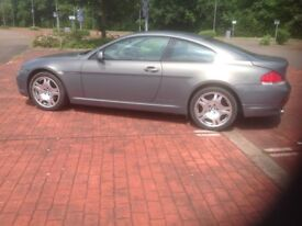 Bmw 630 Coupe, lovely grey pearl paintwork with black leather