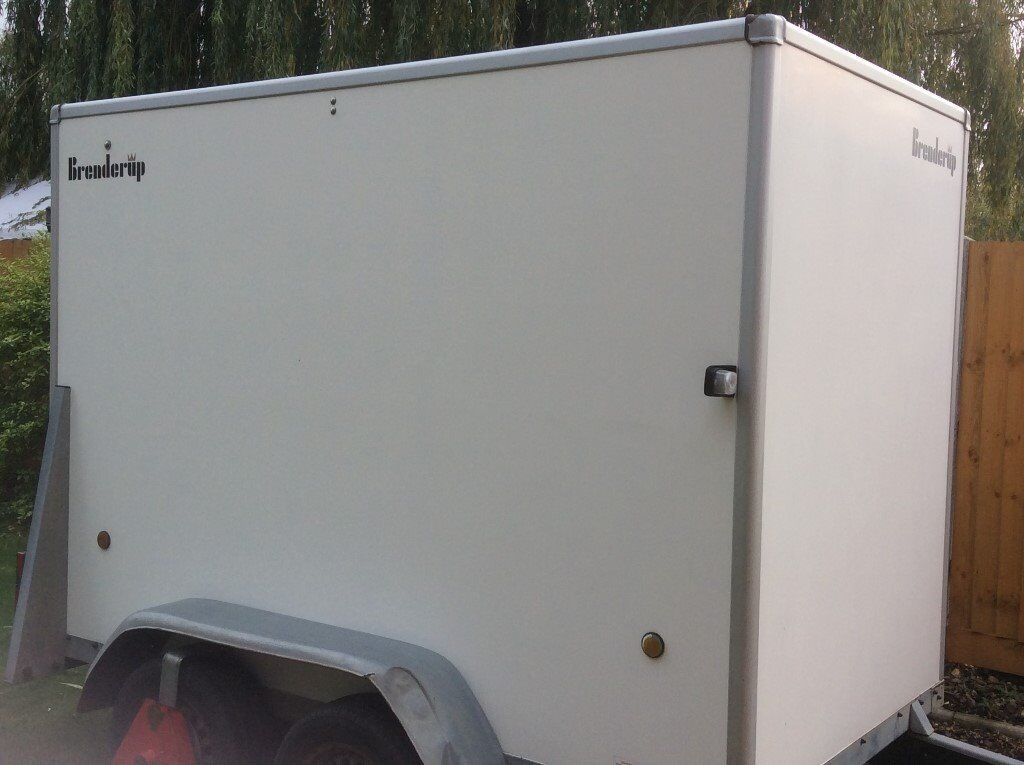 Brenderup twin axle Box trailer - hitch lock + wheel clamp - spare wheel included