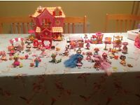 Lalaloopsy house, train, ds game and dolls with pets & sets.