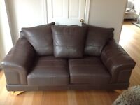 Brown Real leather sofa GREAT CONDITION!!