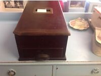 Vintage wooden cash register with working bell Cwmbran South Wales