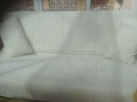Solid Futon with cover and cushions
