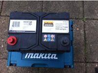 Calcium,Maintenance free 550amps car,vans battery