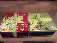 EMPTY L' OCCITANE DESIGNER GIFT BOXES - IDEAL FOR GIFT WRAPPING BIRTHDAY / CHRISTMAS PRESENTS