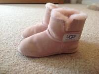 Girls Ugg slippers, age 1-2yrs