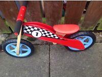 Red/black balance bike
