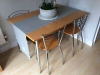 John Lewis beech table and chairs