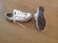 Ladies white converse trainers size 5