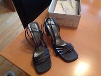 Ravel Ladies dark Grey glitter high heel shoes uk size 7
