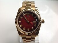 Rolex – day date – all gold – red face