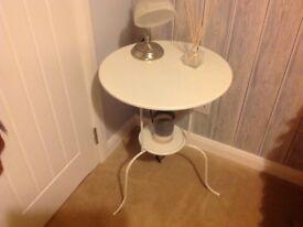 White Ikea side table/ bedside table