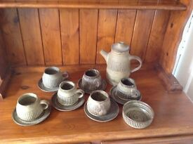 Tremar pottery coffee set. Circa 1970s