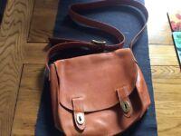 Fossil leather satchel bag